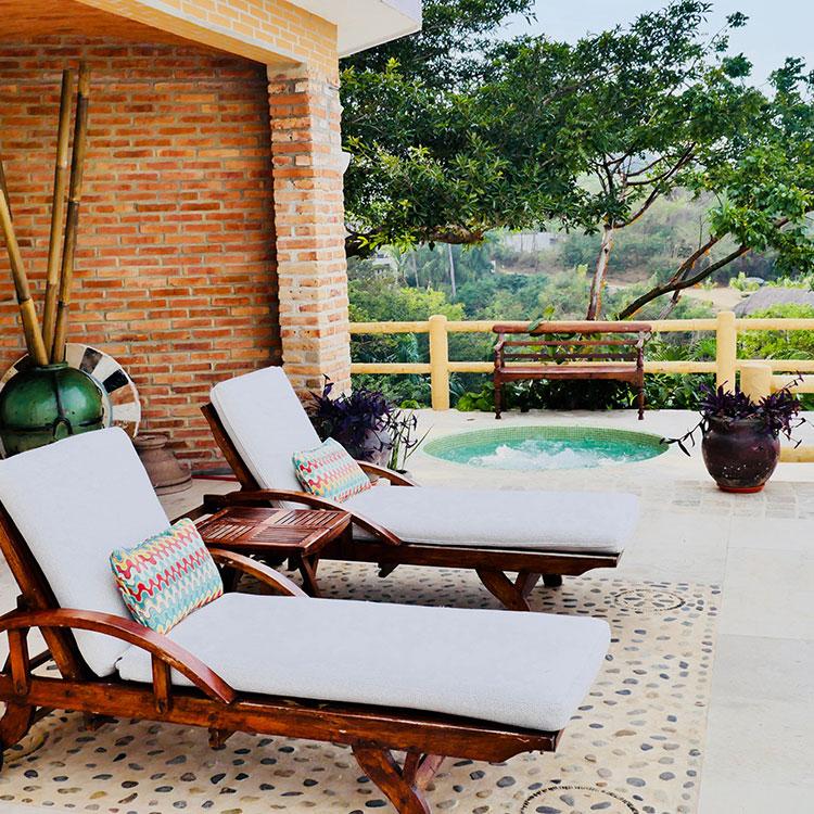 La Gran Villa Sayulita - Deck and Hot Tub